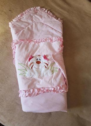 Конверт на выписку, одеяло, плед, покрывало
