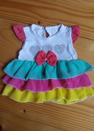 Девочка цвет сарафан и плаття 9-12