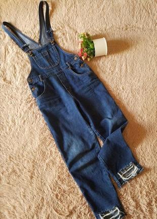 Комбинезон джинсовый мом xs-s длина 7/8