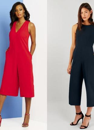 Трендовый стильный комбинезон с брюками- кюлотами( 14 размер)