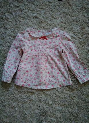 Рубашка в цветочный принт на девочку