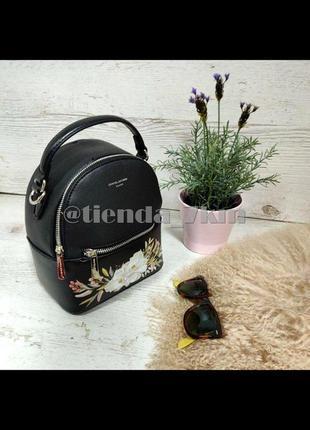 Городской рюкзак david jones с цветочным принтом cm5150t black