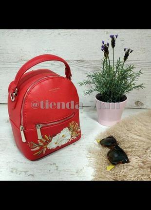 Городской рюкзак david jones с цветочным принтом cm5150t красный