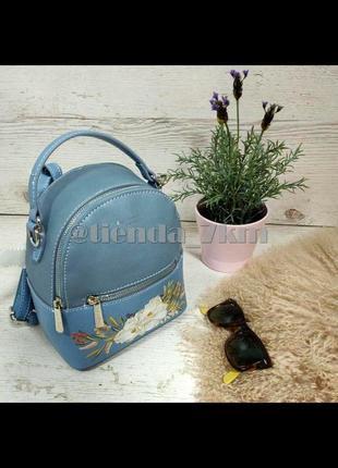 Городской рюкзак david jones с цветочным принтом cm5150t голубой