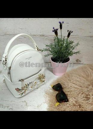 Городской рюкзак david jones с цветочным принтом cm5150t белый