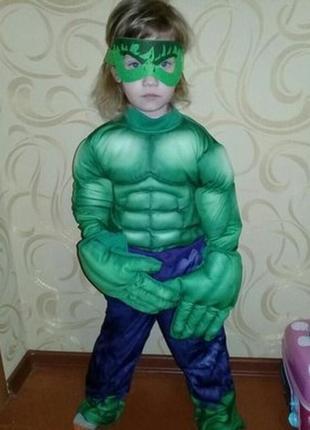 Карнавальный костюм халк на 5-6лет.