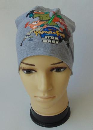 Тонкая шапка хлопок takko 98-128 см