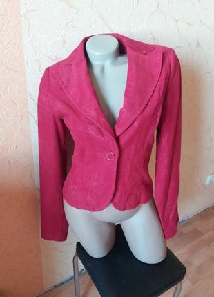 Пиджак вельветовый приталенный с узорами