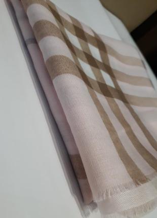 🌷красивейший нежно розовый шарф шаль бамбук клетка