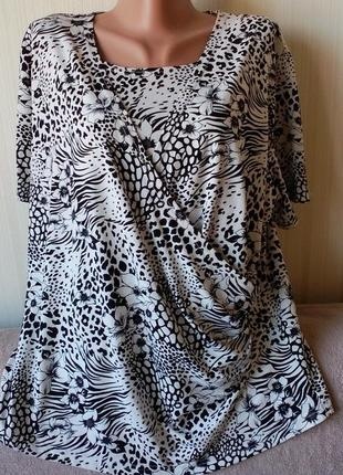 Блуза впереди двойная, с драпировкой, от clothes, р. 20
