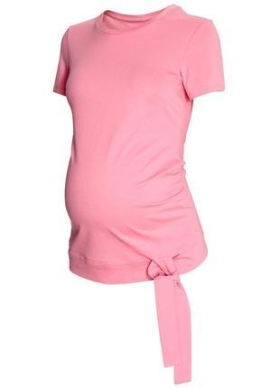Милая розовая футболка на беременную / животик  1+1=3 🎁