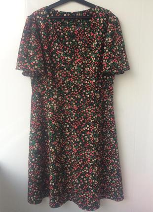 Платье в цветочный принт marks & spencer,40/l