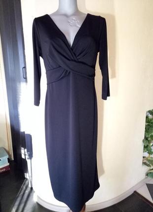 Элегантное,лаконичное трикотажное платье миди
