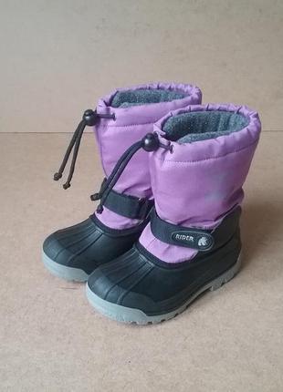 Сапоги сноубутсы vista canadian вкладыш для девочки фиолетовые