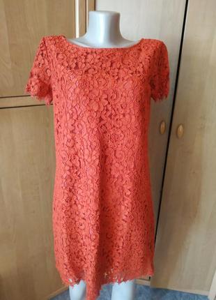 Отличное платье  терракотового цвета от zara р.м/28