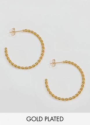 Серьги-кольца с перекрученной отделкой ottoman hands asos сережки бижутерия