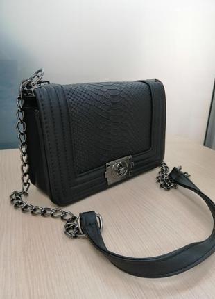 Стильная чёрная сумка клатч 🖤