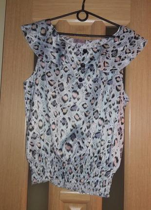 Интересная блуза рюшы принт be beau