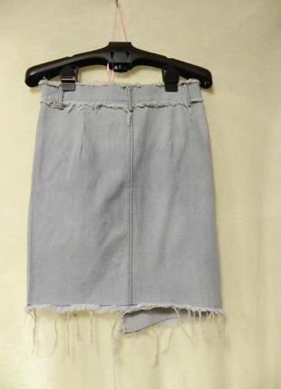 💣летняя джинсовая рваная юбка3 фото