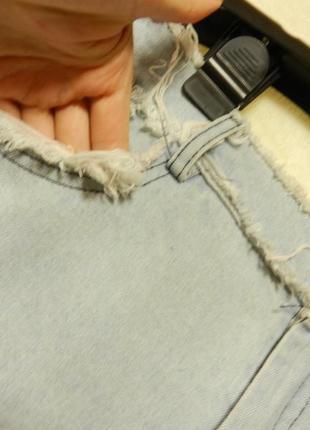💣летняя джинсовая рваная юбка4 фото