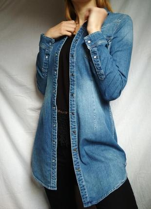 Джинсова рубашка (джинсовка) h&m