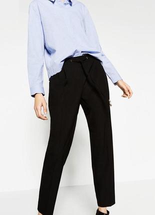 Элегантные легкие брюки с манжетами от zara p.xs