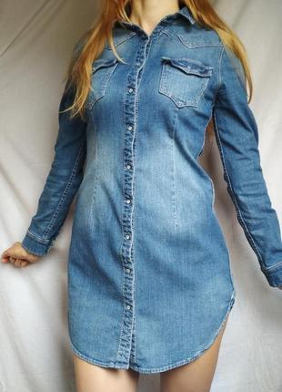 Джинсове плаття рубашка h&m