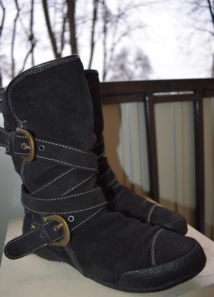 Замшевые ботильоны ботинки геокс geox р.39 демисезонные