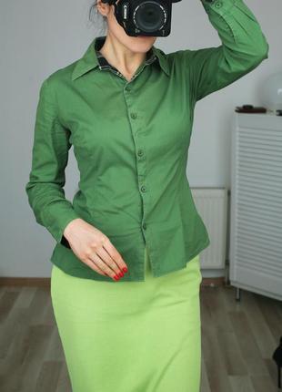 Натуральная ткань,рубашка с воротом в принте burberry