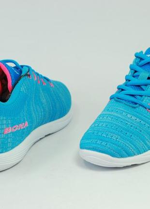 Женские голубые кроссовки для бега