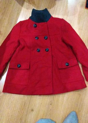 Шерстяное полу пальто zara 146-152 размер