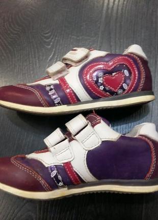 Кожаные кроссовки flamingo на девочку 28р