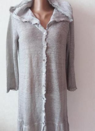 Плаття кардиган з капішоном  льон nile оригінал!