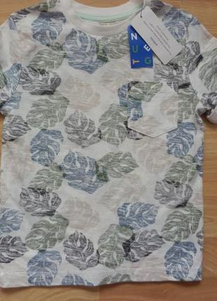 Новая фирменная футболка nut mag малышу 4-5 лет