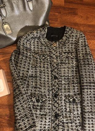Твидовое пальто в стиле chanel, италия 🇮🇹