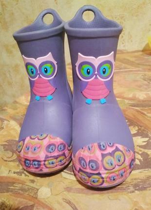 Крокс сапоги чоботи сапожки для девочки crocs c6 21/22
