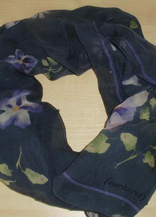 Cacharel (италия) шарф из воздушного шелка