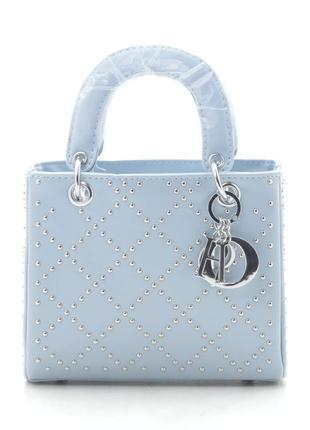 Новая голубая женская сумка клатч