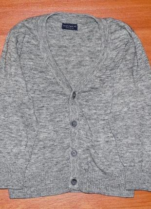 Серый реглан next,некст,пуловер,кофта на пуговицах,кофточка,98,3 года