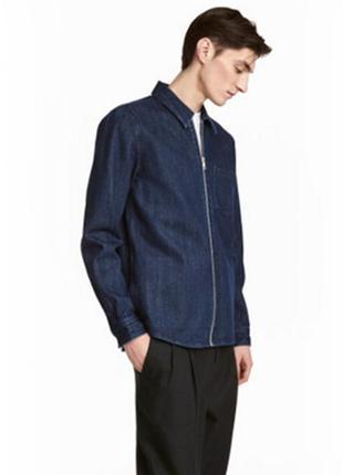 Куртка ветровка джинсовая на молнии h&m xl