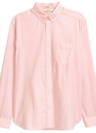 Рубашка розовая h&m l