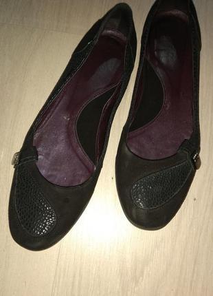 Туфли мокасины балетки кожа 39-39.5 р