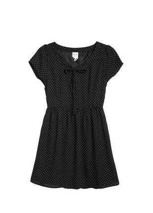 af4625194ea Распродажа! легкое шифоновое платье в мелкий горошек от monki