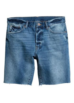 Шорты джинсовые синие рваные h&m 36 l