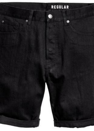 Шорты джинсовые черные h&m 36 l
