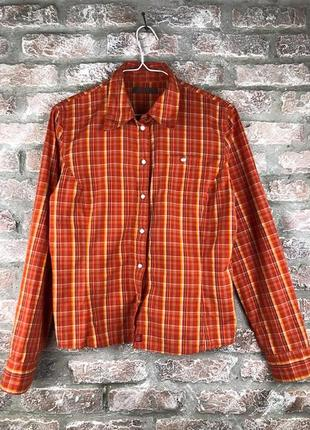 Спортивная рубашка s.oliver в нарядную оранжевую клетку
