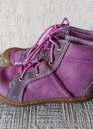 Демисезонные кожаные ботинки для девочки, 23 р