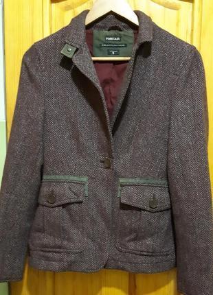 Шерстяное пальто, полупальто, жакет
