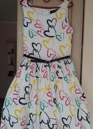 Летнее платье cool club на 134 см, б/у 1 раз