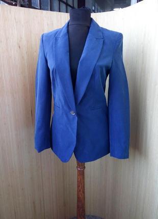 Женственный синий  жакет фрэнч h&m
